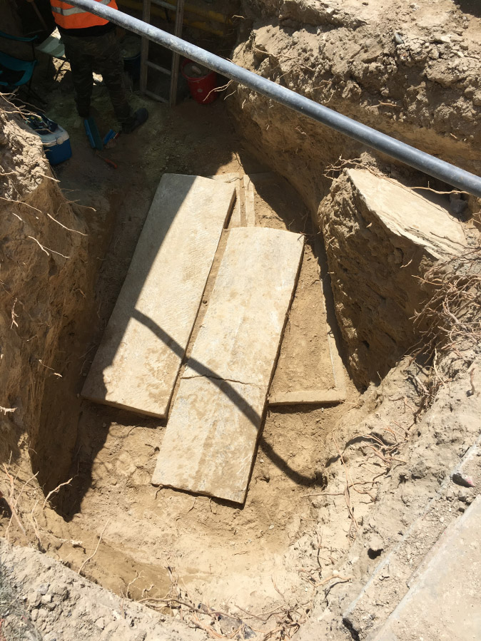 26a9da28e5ad Burial in a  mnima -type tomb on Derbis Yusuf Street. Photo  Cyprus  Department of Antiquities