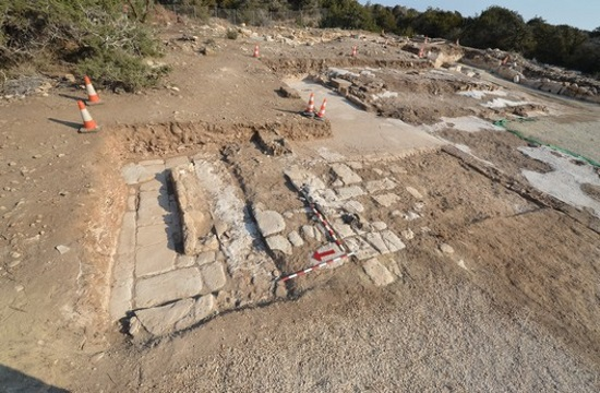 Extremely important Early Christian monument unearthed on western coastline of Akrotiri peninsula
