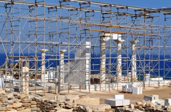 Archaic building found at Despotiko island's Apollo sanctuary in Greece