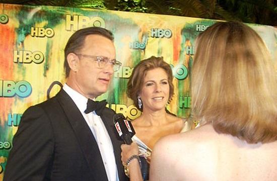 Tom Hanks and Rita Wilson arrive in Greek island of Paros by private jet