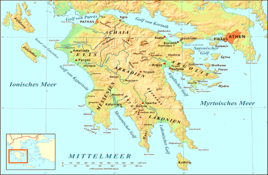 Germany removed Greece's Peloponnese from the Covid-19 red list