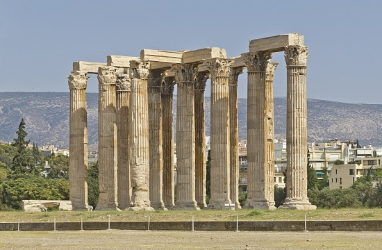 Restoration of the ancient Temple of Olympian Zeus underway in central Athens