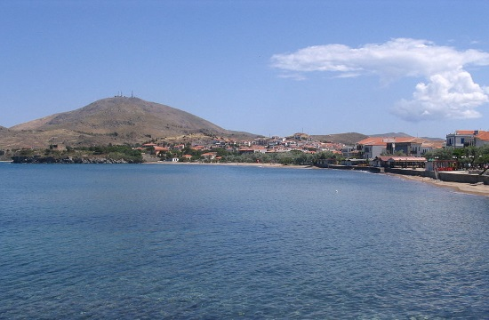 The open-air Greek church on the island of Lemnos looks up to the skies (video)