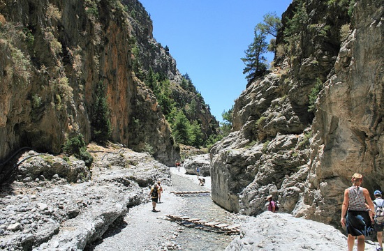 Visitors can again enjoy the unique beauty of Samaria Gorge on Crete island
