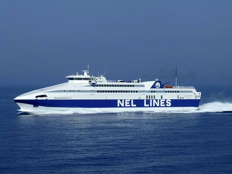 Aeolos Kenteris fast ferry on auction block in Greece next month