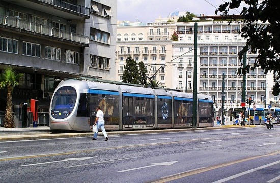 Greek Transport Minister attends arrival of first two new tram trains