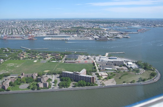 Greek amphitheater on show at New York's Governors Island