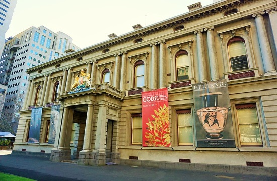 """Against the Greek Ruins"" exhibition opens in Melbourne, Australia"