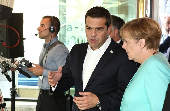 German Chancellor and Greek PM hail now close ties during Athens visit