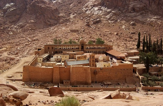 Ancient hidden texts from St Catherine's Monastery in Mt Sinai displayed in Athens (video)