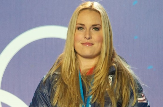 Report: Ski champion Lindsey Vonn keeps secret message in Greek