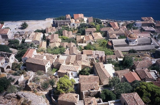 The stunning Byzantine fortress town of Monemvasia in Greece