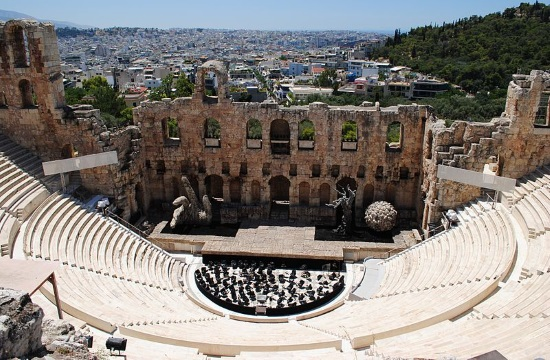 Classic jazz performance by Frangoulis and McCann at Herodes Atticus Odeon