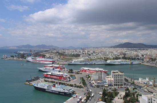 World's newest cruise ship Sky Princess in Greek port of Piraeus