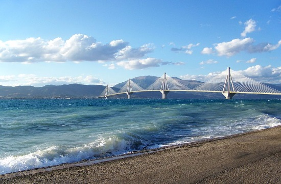 The Ionian Road in Greece was joined to the Rio-Antirrio bridge