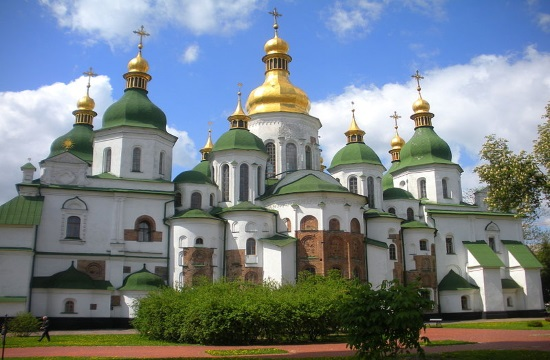 Greek PM visits Kiev's beautiful Orthodox museum of St. Sophia