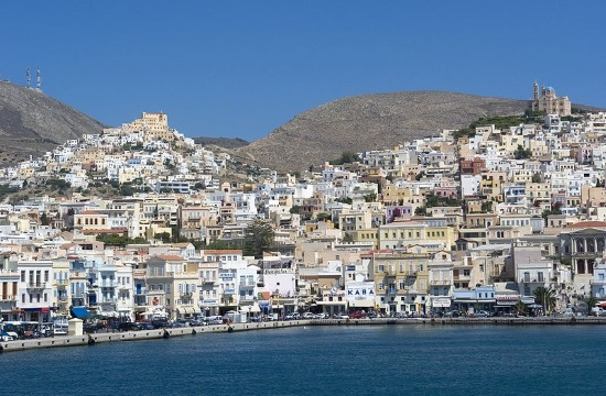Live test of European emergency number 112 on Greek island of Syros