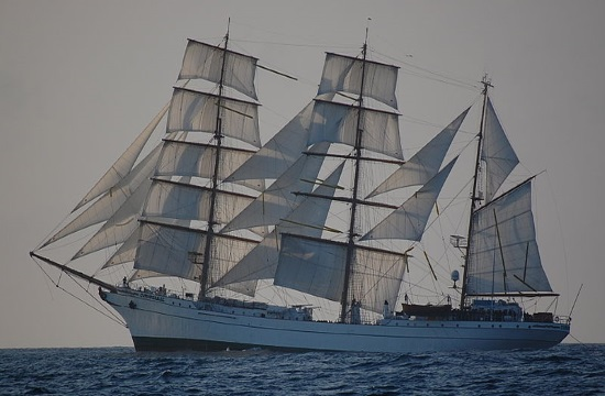 "Mexican Navy sailing ship ""Cuauhtemoc"" in Souda, Crete for five days"