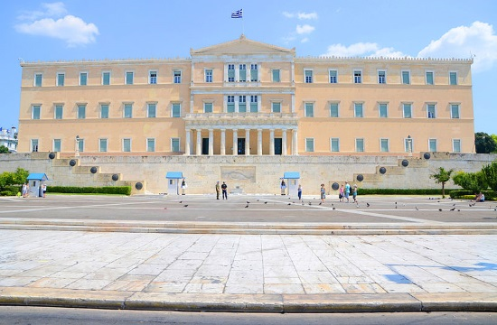 Debate on the repercussions of the pandemic at the Greek parliament in Athens