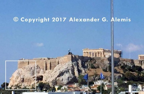 Dr. Alemis' photo reveals the ancient face of the Athens Acropolis