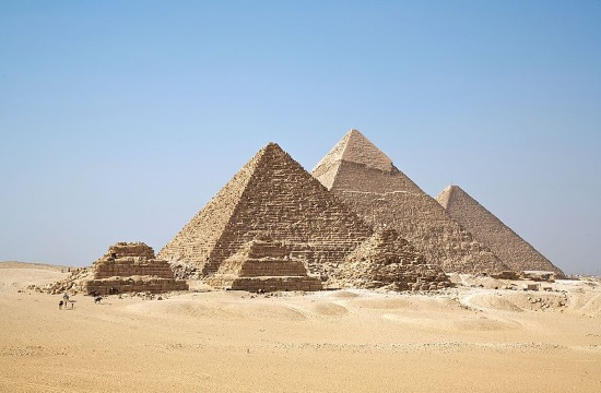 Cosmic-ray imaging finds hidden rare structure in Egypt's Great Pyramid