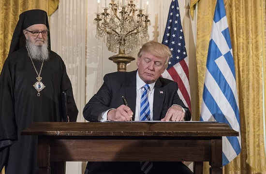 President Trump praises strong US ties on Greek Independence Day