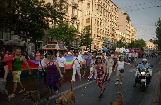 Athens Pride Week at central Syntagma Square on June 9