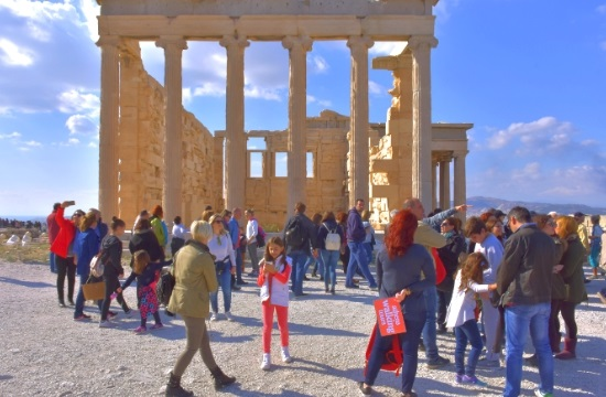 Athens Walking Tours guide American travel agents in the city