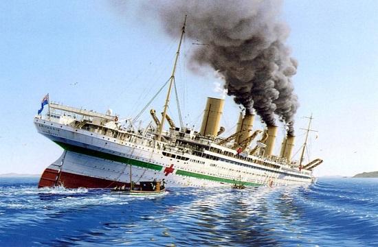 WWI Burdigala and Britannic sinkings commemorated on Kea island