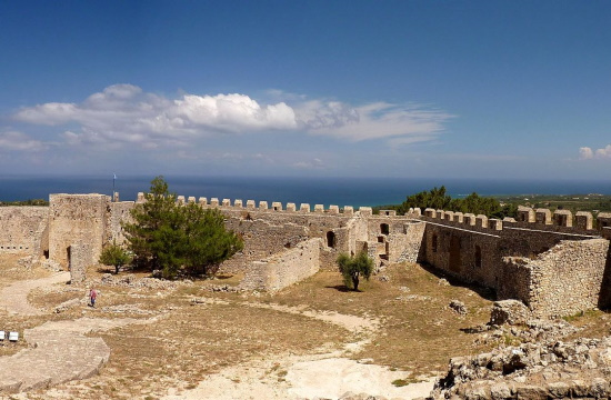The Crusader castle of Chlemoutsi in the Peloponnese region of southern Greece
