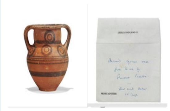 Cyprus schocked that vase given to Margaret Thatcher ended up at auction house