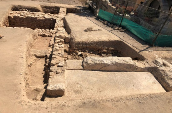 Early Christian finds above Ancient Pagan Temple at Paphos-Toumballos in Cyprus