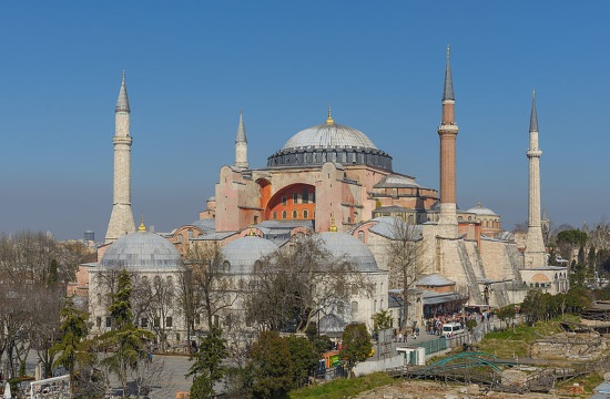 Muslims pray in front of Hagia Sophia to revert historic monument into Mosque