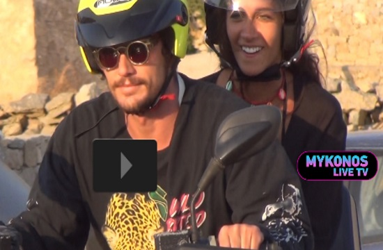 Hollywood star James Franco spotted on Greek island of Mykonos (video)