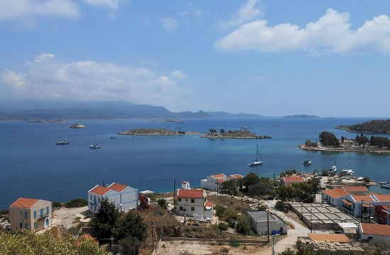 Greek island of Kastellorizo: from the Dodecanese at the Athens airport