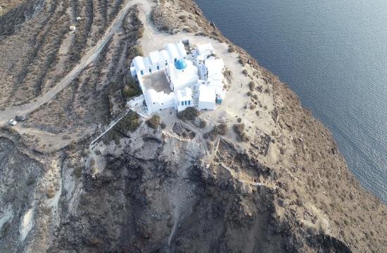 Olive tree piece found on Thirasia alters Santorini volcano explosion dates