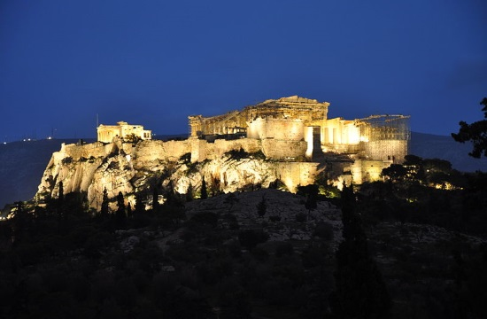 Athens Acropolis lit blue for anniversary of United Nations Convention on children