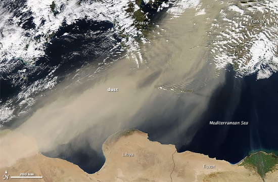 Sahara desert dust to cover parts of Greece until Good Friday
