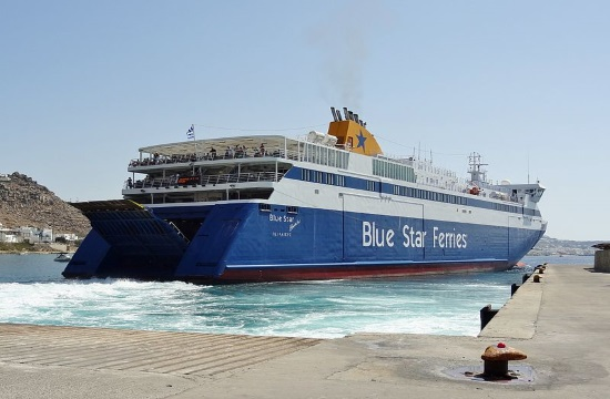 Greek companies present new LNG-powered vessel for Blue Star Ferries