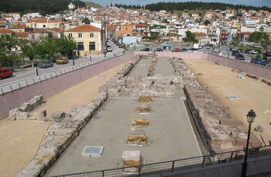 Ancient defensive wall of Mytilene revealed during salvage excavation on Lesvos island