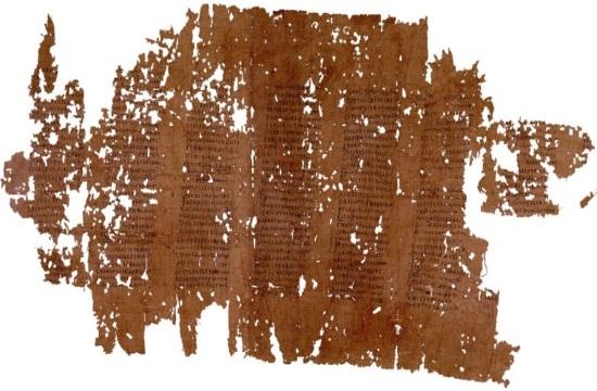 Ancient Greek texts found on papyrus burnt after Vesuvius eruption