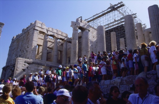 Athens Acropolis elevator repaired and utilized to carry people with mobility problems