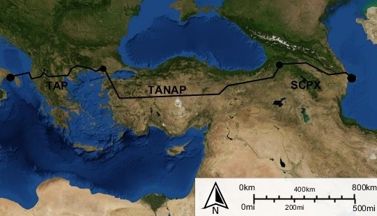 Connection between TAP and TANAP pipelines concluded at Greek-Turkish border