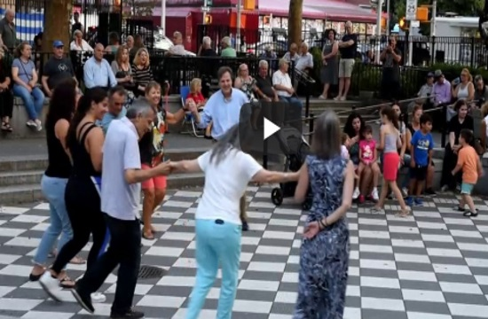 Traditional songs and dances at Greek night in Athens Square Park in Astoria (video)