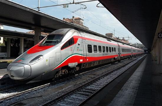 High speed Silver Arrow train goes on test run in Thessaloniki Fair