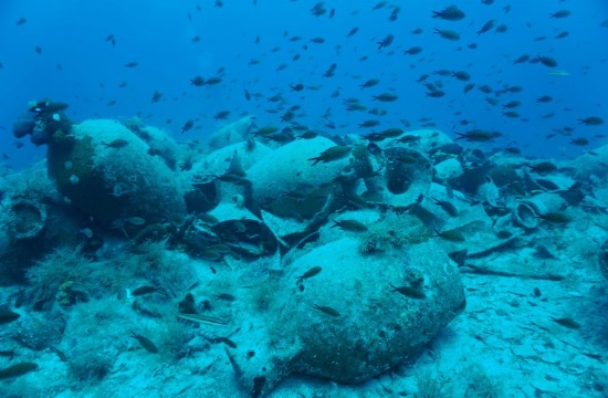 Significant finds from underwater excavation on Delos island in Greece