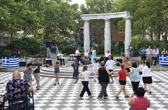 Greek Nights return to Athens Square Park in Astoria, New York (video)