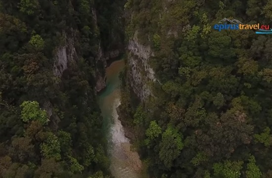 Stunning drone footage of Acheron River, the mythical way to the underworld