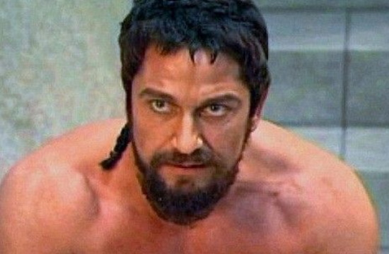 """Holywood star """"Leonidas"""" Olympic Flame torch-bearer in Sparta"""