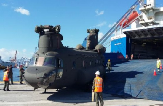 Second batch of 3 ex-US Army CH-47SD helicopters arrives in Greece